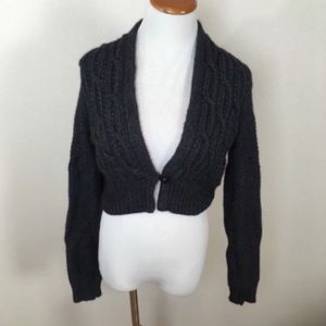 Rebecca Taylor Cable Knit Cropped Sweater Medium